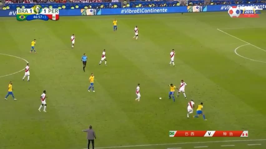 半场绝杀!阿图尔助攻热苏斯建功,巴西队2-1秘鲁迅速反超