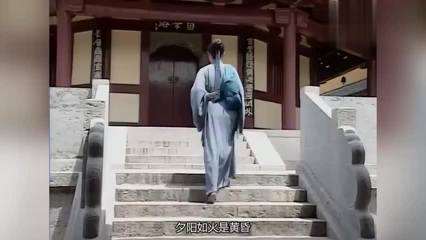 许仙来到雷峰塔前,为了白素贞甘愿去金山寺修行,真是千古佳话