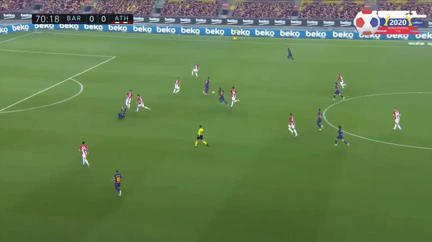 梅西助攻拉基蒂奇破门,巴萨打破僵局1-0领先