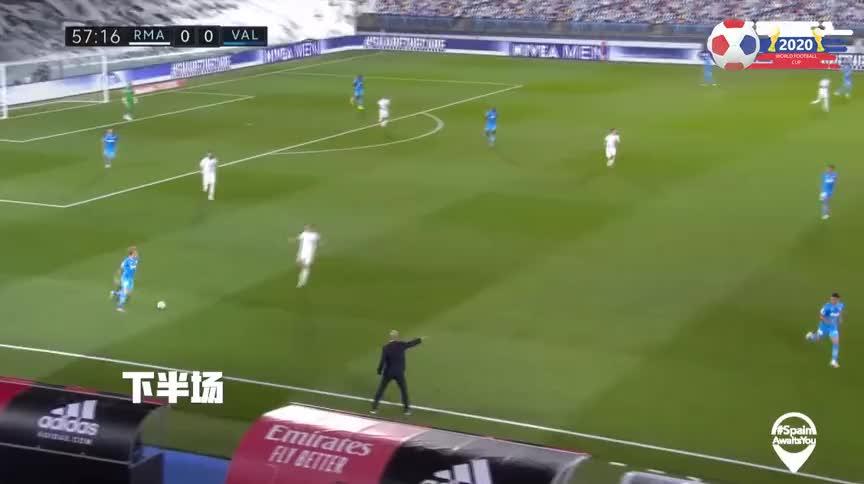 集锦-本泽马双响阿森西奥传射李刚仁染红,皇马3-0瓦伦西亚