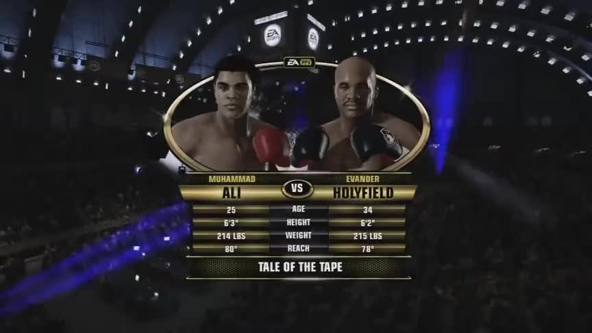 虚拟重量级传奇锦标赛,穆罕默德阿里五回合强势KO霍利菲尔德