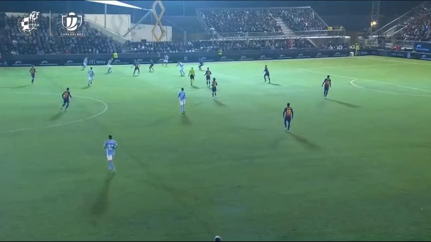 国王杯-格列兹曼双响+绝杀,巴萨2-1逆转伊维萨晋级