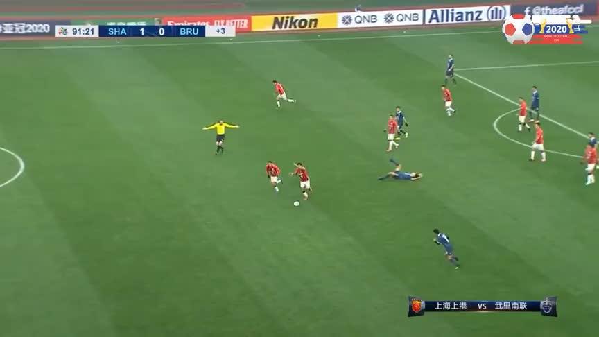 奥斯卡助攻,阿瑙托维奇扩大比分!上港2-0武里南联锁胜局