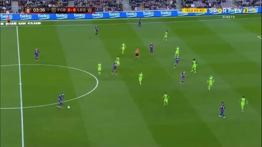 国王杯-梅西2射1传格列兹曼闪击,巴萨5-0莱加内斯晋级8强