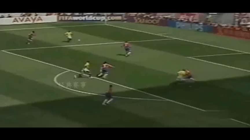 韩日世界杯珍贵视频,巴西狂胜哥斯达黎加,埃德米尔森上演倒钩