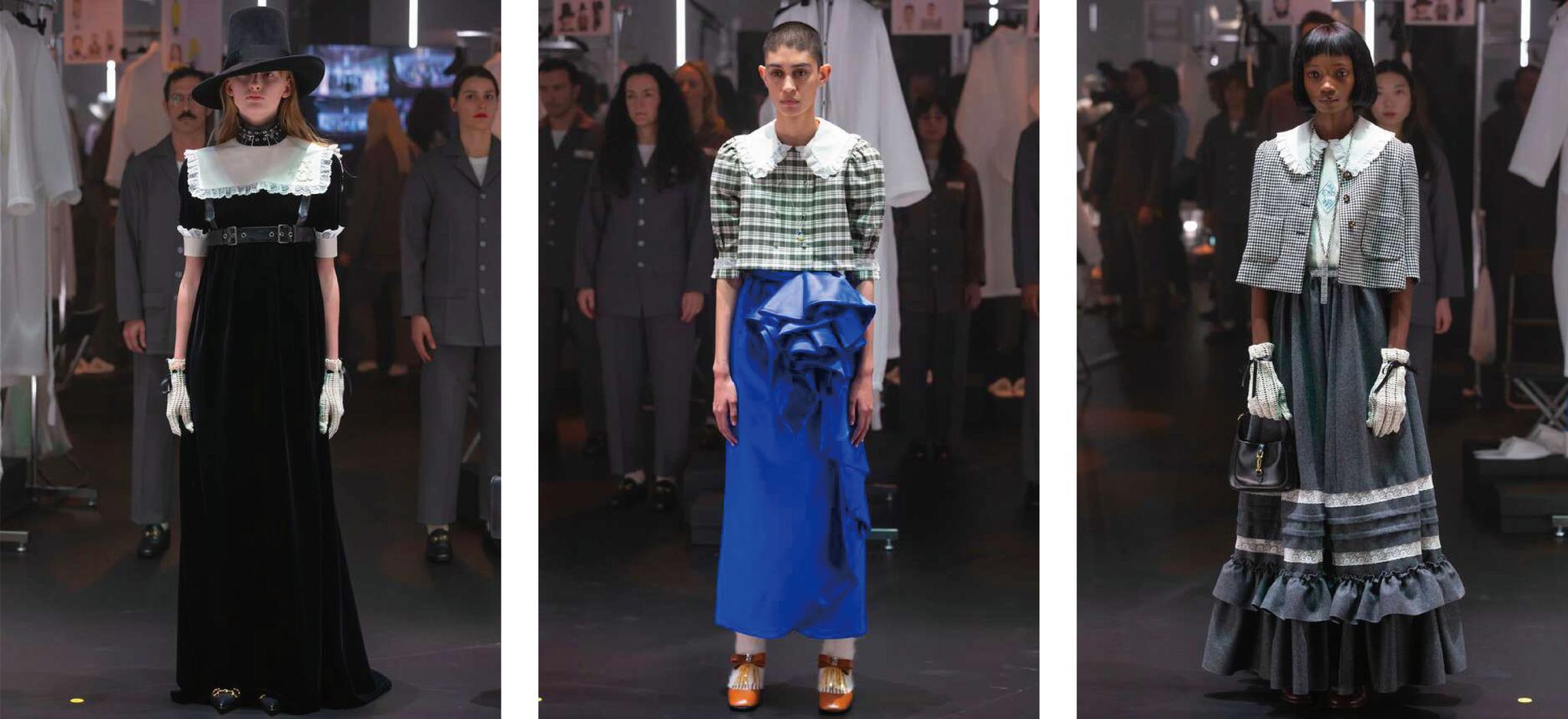 Gucci 2020米兰秋冬时装周--洛丽塔女孩带你梦回美好的儿童时期