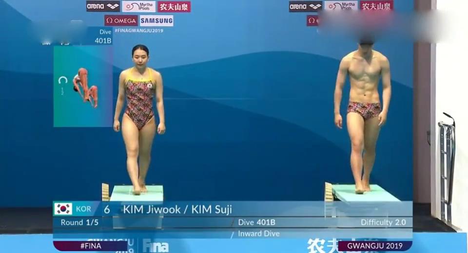 回顾国际泳联跳水混合双人3米板决赛:韩国选手表现很好!