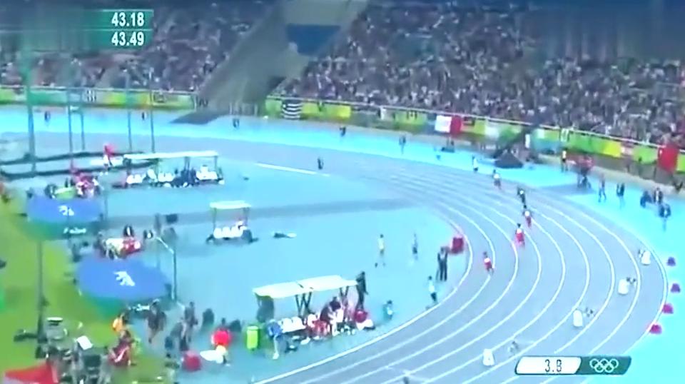 曾经400米世界纪录保持者范尼凯克最后100米直接癫狂模式!