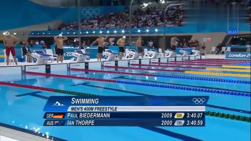 打脸韩国解说!孙杨力压朴泰桓,伦敦奥运会400米自由泳夺冠