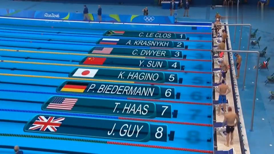 经典回顾里约奥运会男子200米自由泳决赛,孙杨逆转夺冠!