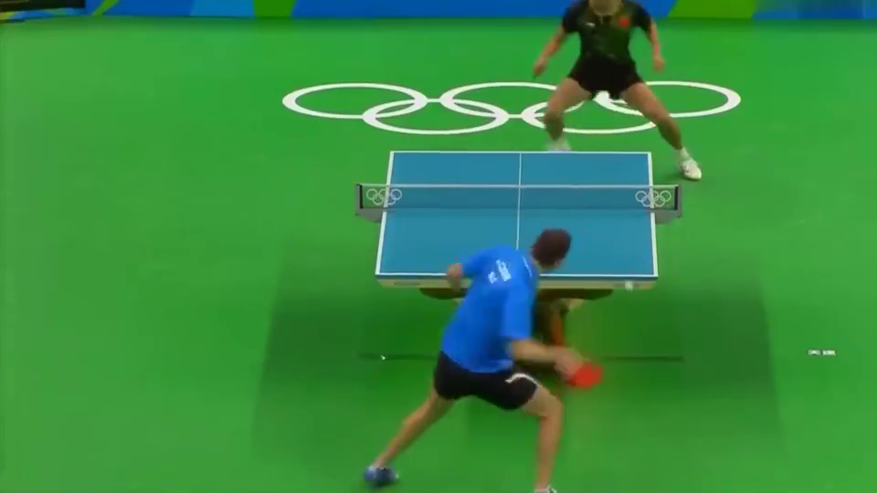经典回顾:里约奥运会男单第四轮,张继科用球拍告诉你嚣张怎么写
