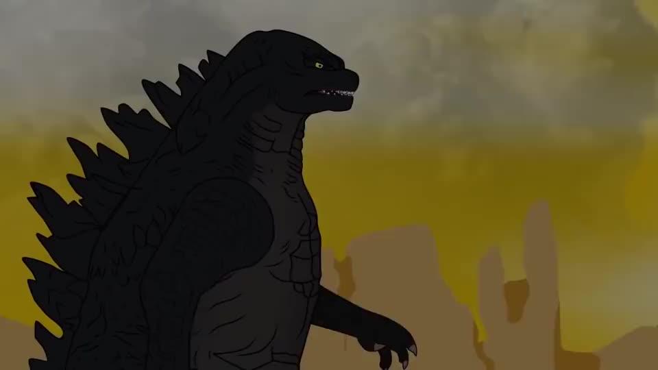 大胃王哥斯拉想吃恐龙蛋,没料牙齿差点被磕掉?结局反转太快