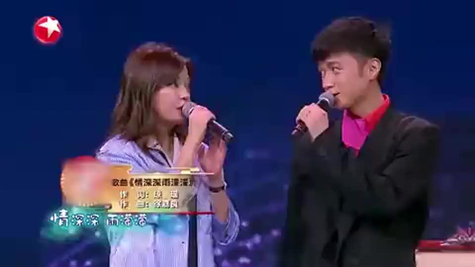 赵薇和古巨基面唱《情深深雨濛濛》林心如和苏有朋接着也唱起来了