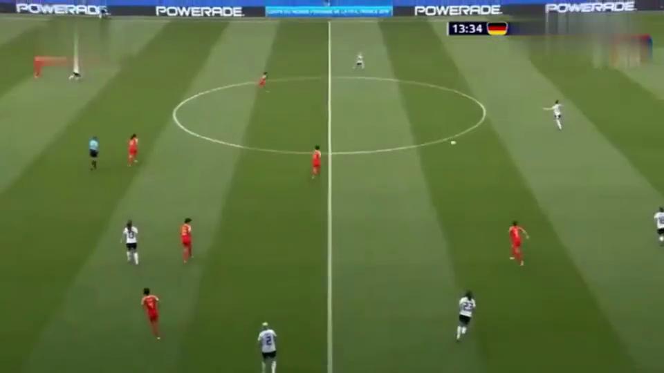女足世界杯-中国VS德国,杨丽错失破门的绝好良机!