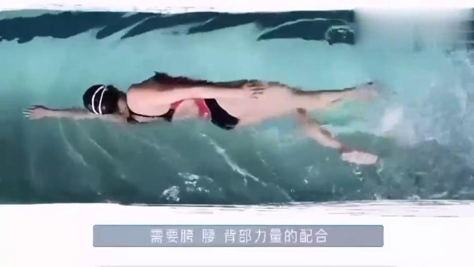 来看一下,自由泳换气转体教学,可以减少对肩膀的消耗