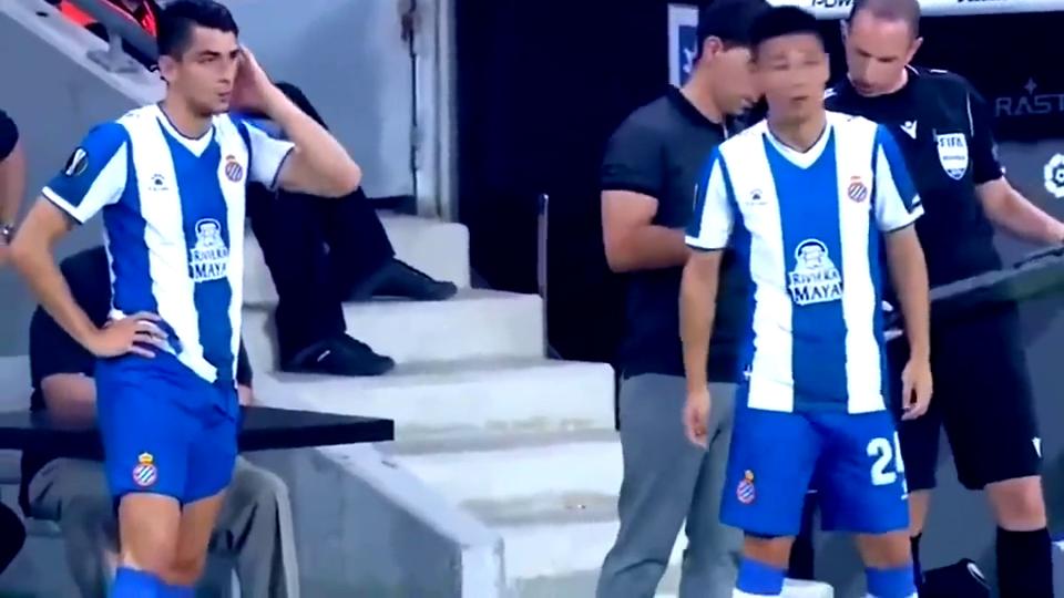 欧联杯:武磊替补登场,一脚远程吊射空门