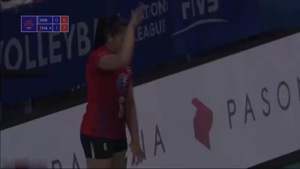 2019世界联赛:泰国女排vs塞尔维亚女排,奥努玛个人集锦