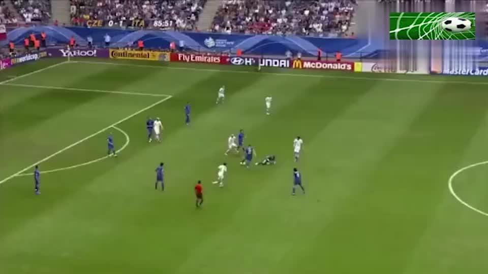 足球:欣赏06世界杯因扎吉反越位+长途奔袭,晃过切赫打空门得手