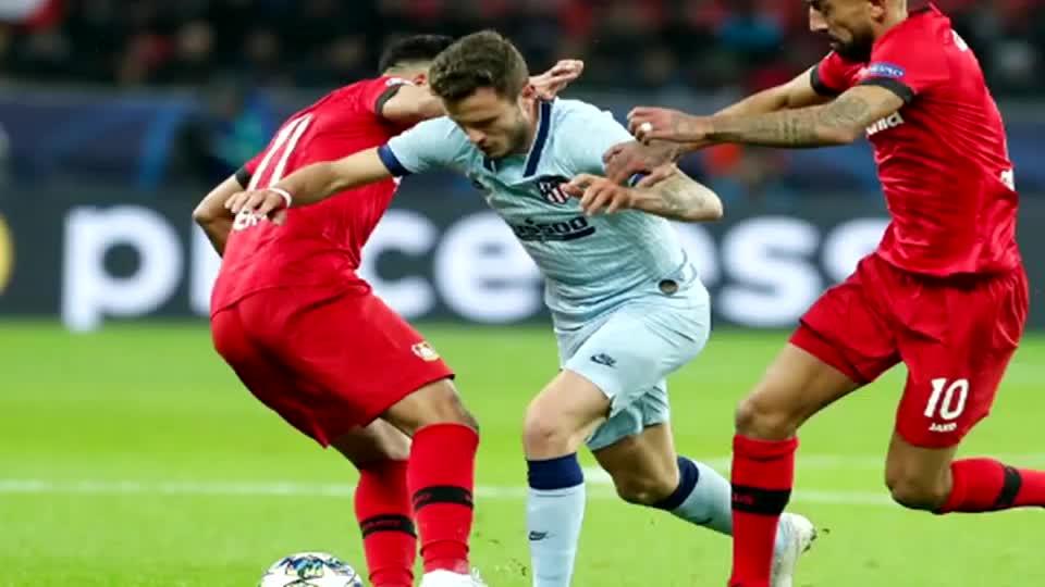 勒沃库森2-1马竞取小组首胜 西蒙尼表示自已负首要责任。
