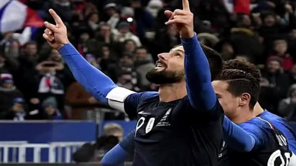 吉鲁 30岁后进12球法国无人能敌 战术作用大于进球数
