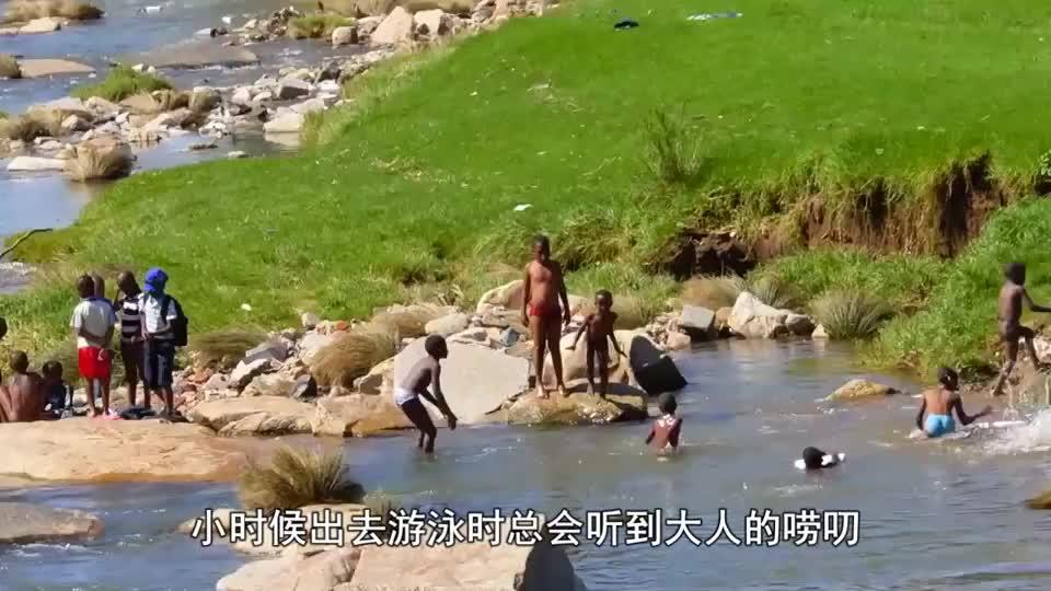湖面出现大漩涡,两只鸭子毫无畏惧的靠近了过去,镜头记录全过程