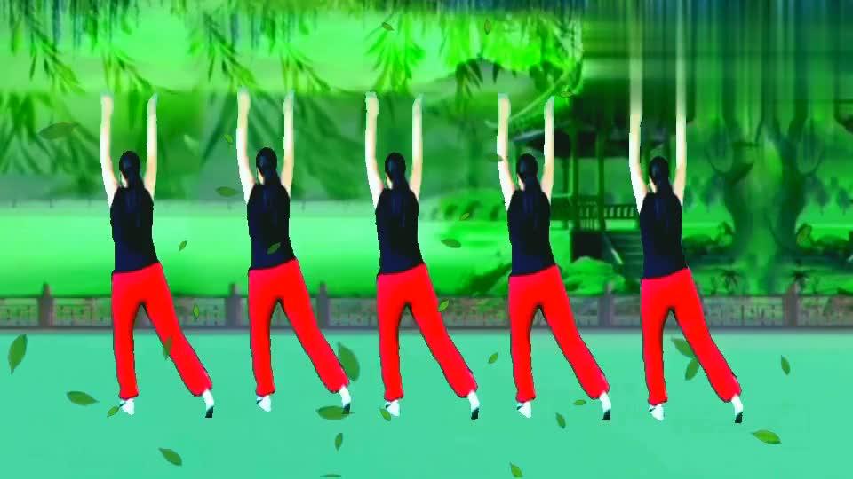 跟着音乐动起来。大家跟我一起来跳这首健身美舞瘦身非常快。