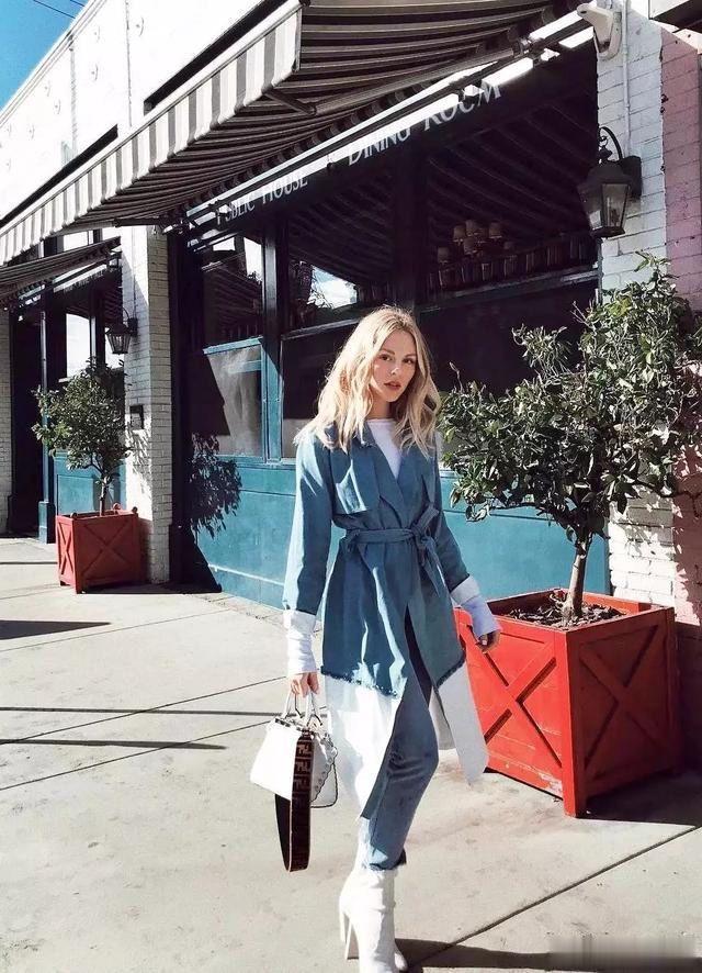 穿搭 没有温柔的雾霾蓝,怎么美美的入春呢?