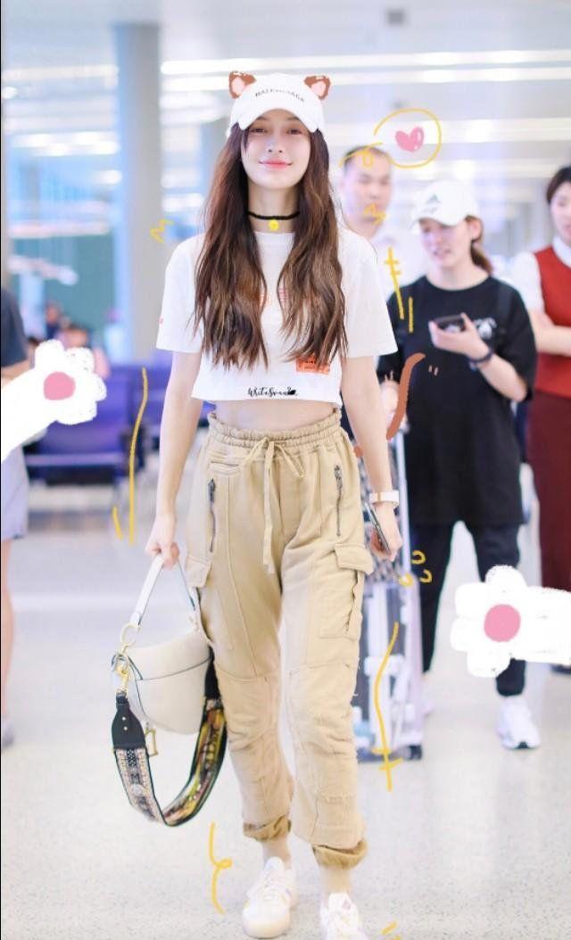 Angelababy杨颖机场穿搭合集,每一套都很好看