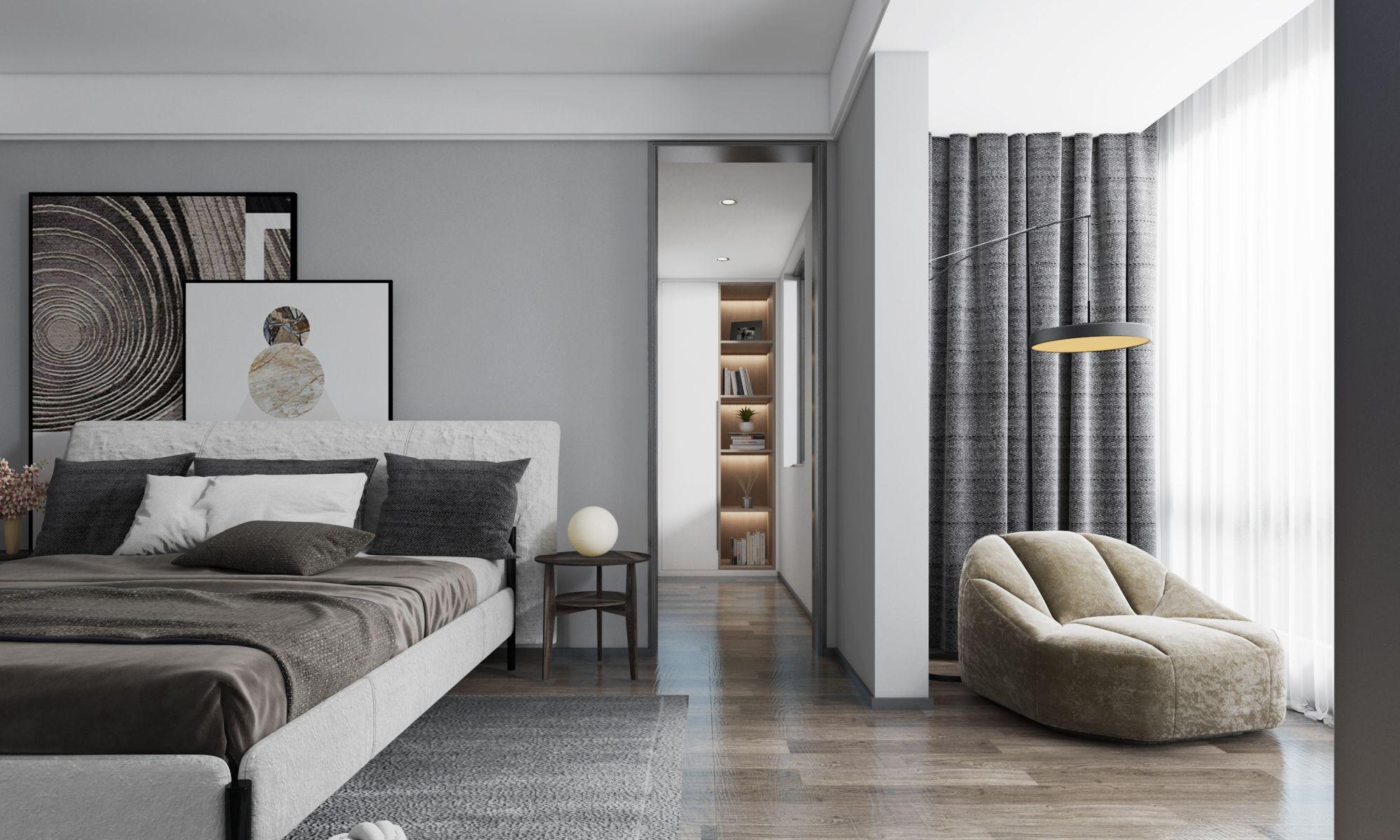 192平米现代风格家装效果图分享,打造现代时尚的家居人文空间