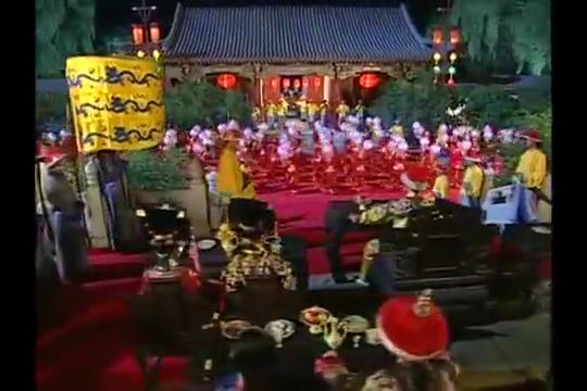 还珠3:小燕子跳舞为皇阿玛贺寿,黄奕当年这身红装简直太美了!