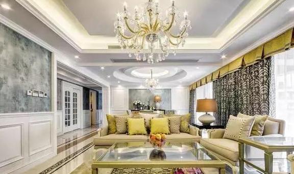 奢华气派的欧式四居室,住着这样的房子里,尽享奢华尊贵!