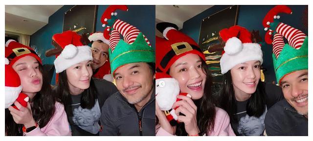 林熙蕾舒淇圣诞节素颜自拍 冯德伦出镜白胡子抢眼
