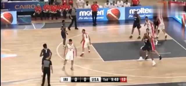 当伊朗队遇见美国队,才知道当初中国男篮有多猛,这就是打小孩啊