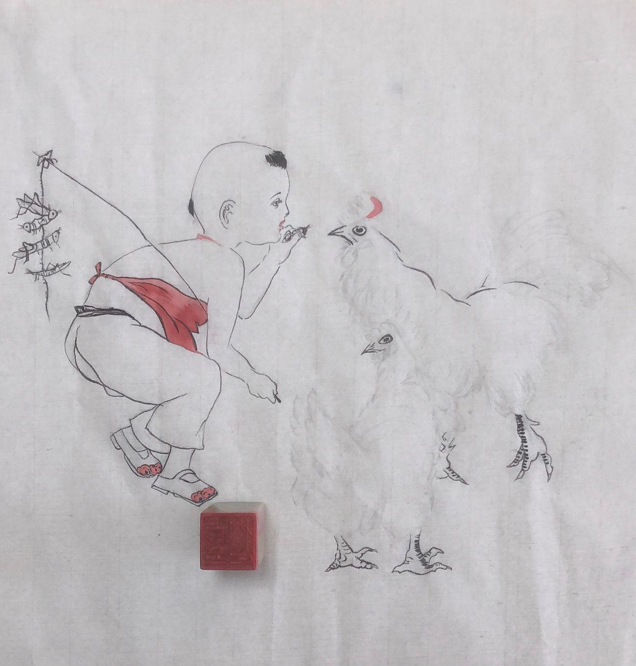 《童趣》的绘画步骤