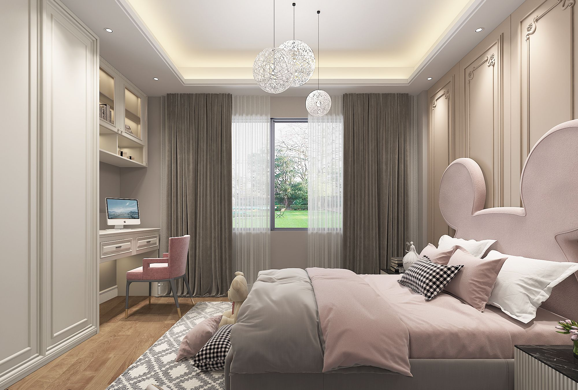 新中式风格联排别墅装修效果图赏析,赋予空间传统文化底色