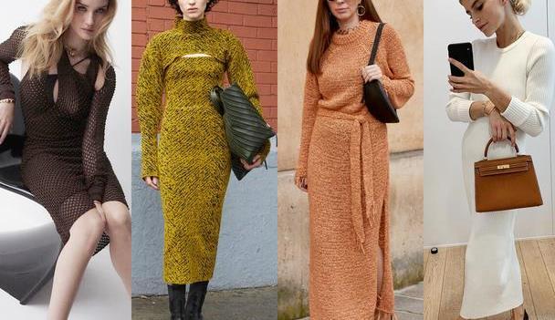 国庆出游怎么穿,一件针织裙全搞定,知性优雅温暖一个秋天