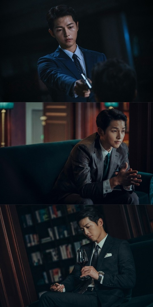 tvN电视台新剧《Vincenzo》公布宋仲基最新剧照