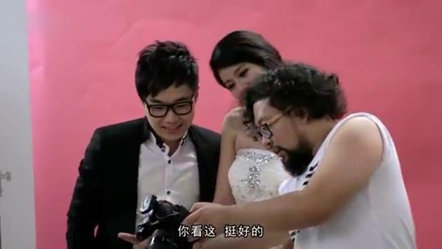 屌丝男士:大鹏拍结婚照,拍完才发现新娘原来是租的,笑抽