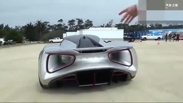 视频:Lotus路特斯Evija电动超跑2000HP外观细节展示