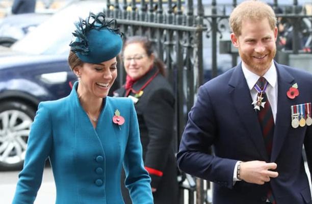 凯特王妃感到超意外,哈里王子突然来陪她参加活动,都因为梅根