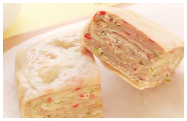 孩子爱吃的猪肉千层饼,简单营养,软嫩美味,不错的育儿早餐