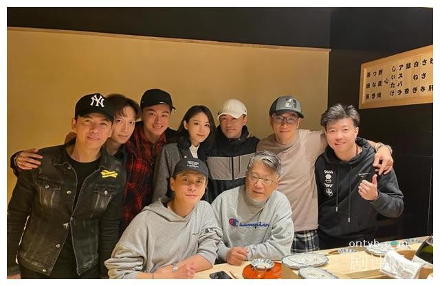 林峰带老婆张馨月同好兄弟聚会 与吴卓羲黄宗泽同框合照好难得