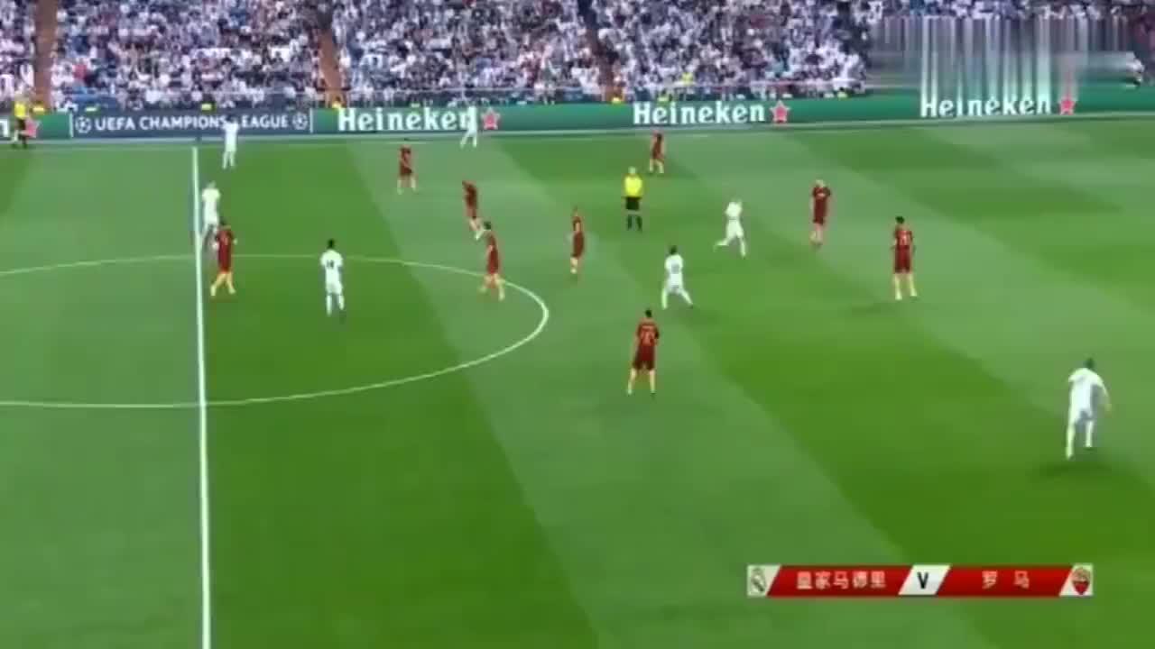 贝尔当年欧冠神停球厉害了,45米停球怒射一气呵成