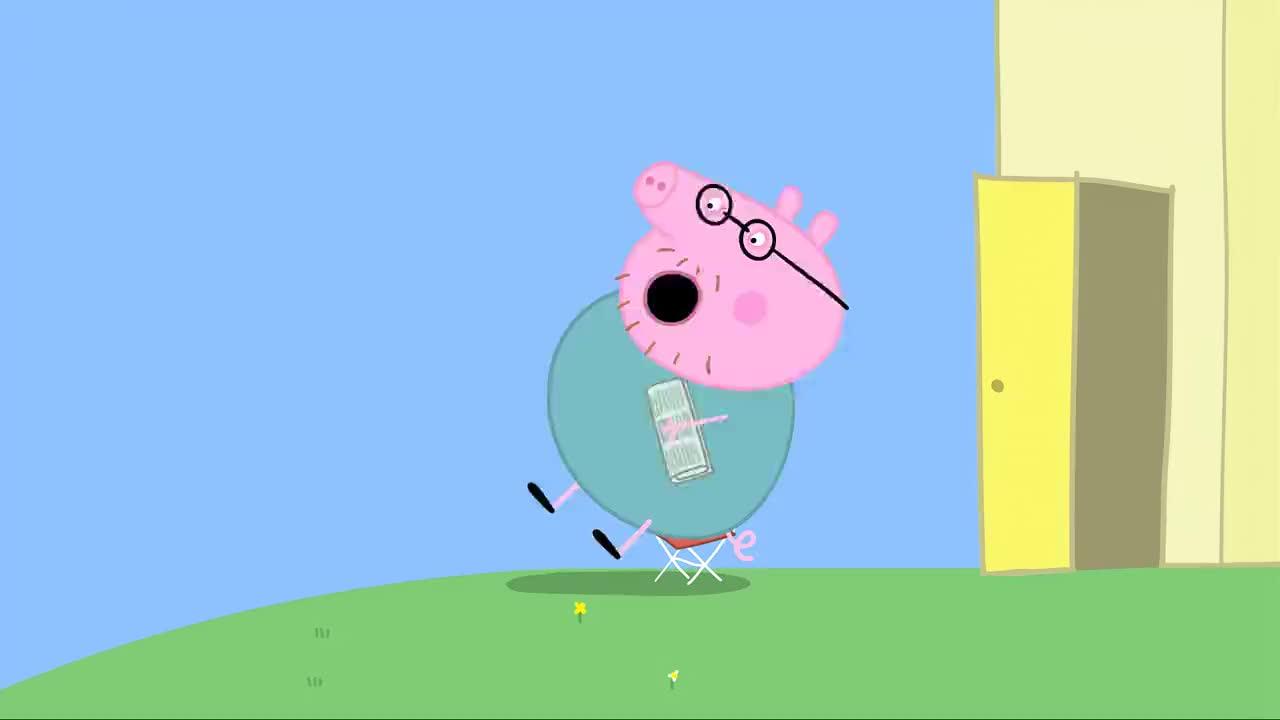 小猪佩奇猪爸可真糊涂上班时间都忘了还以今天是放假呢