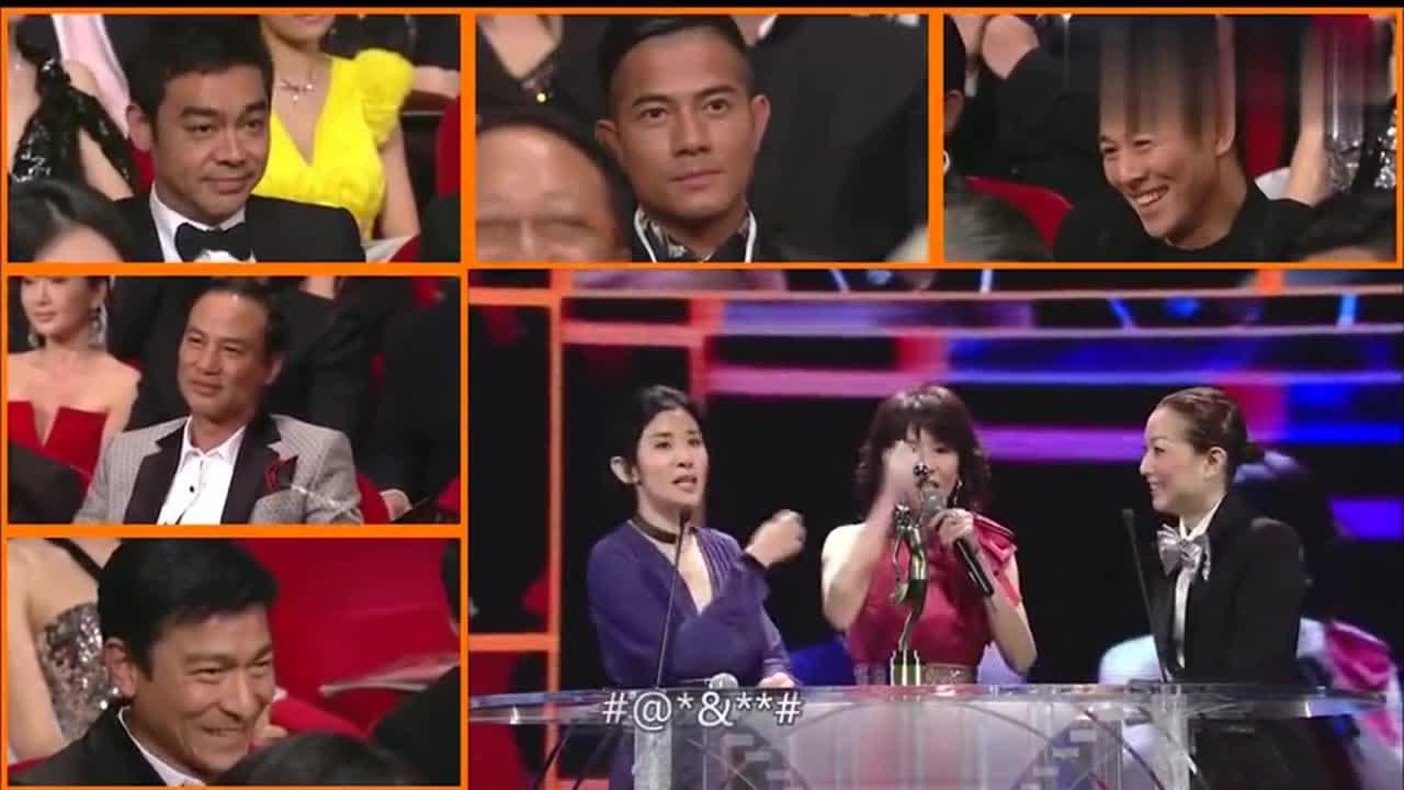 当年吴君如宣布李连杰获奖,杰哥没注意,刘德华提醒他才恍然大悟