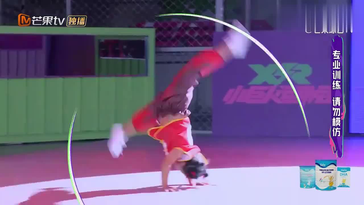 5岁小男孩表演杂技,堪比国家级选手水平,田亮惊得合不拢嘴!