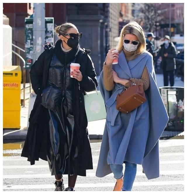 奥利维亚巴勒莫和尼基希尔顿一起逛街,都很有大牌名媛范