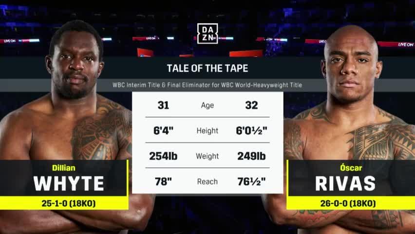 最新重量级拳王争霸战,怀特击败里瓦斯赢得WBC过渡金腰带