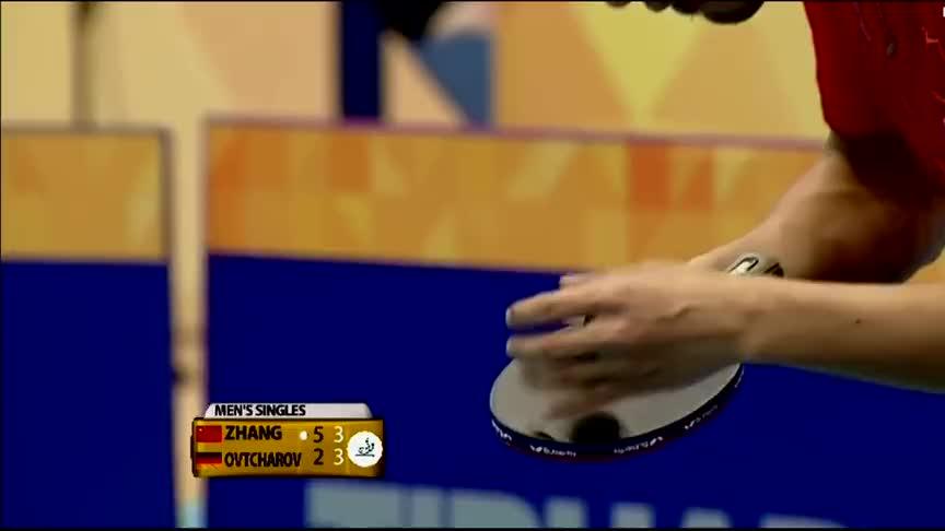 有惊无险,张继科顶住了奥恰洛夫的冲击,最后4:3逆转取胜