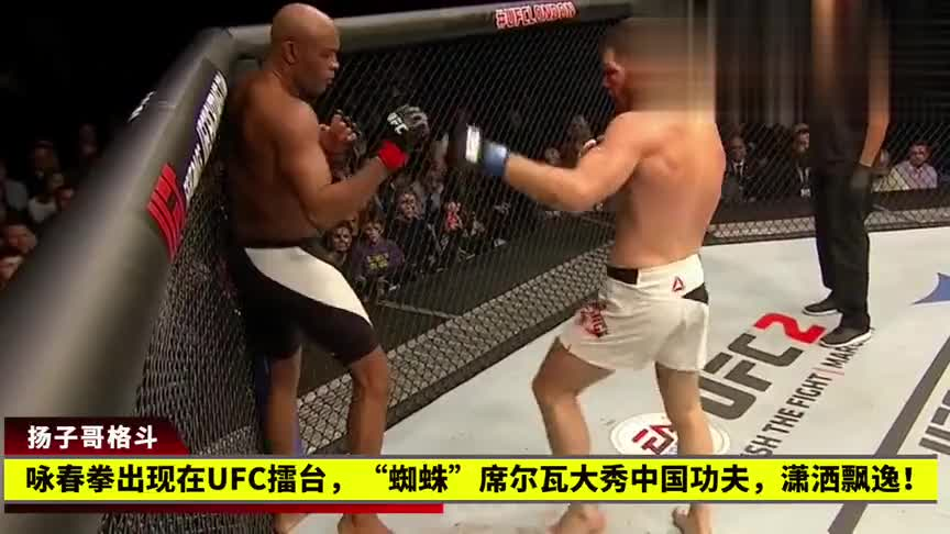 """咏春拳出现在UFC擂台,""""蜘蛛""""席尔瓦大秀中国功夫,潇洒飘逸!"""